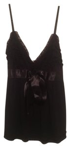 Casting Ruffle Viscose Night Out Top Black