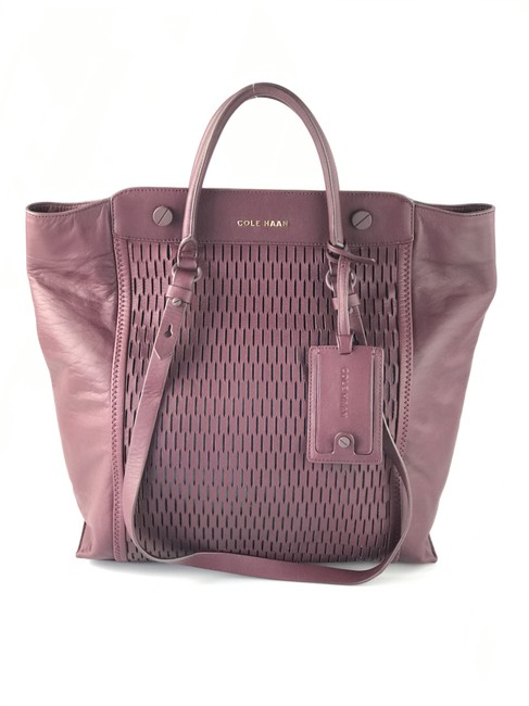 Item - Perforated Wine Leather Tote