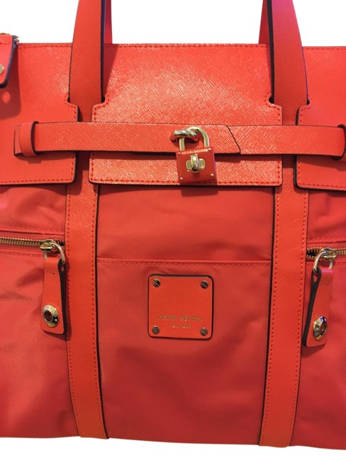 Item - Backpack Jetsetter Convertible Orange Nylon and Leather Beach Bag