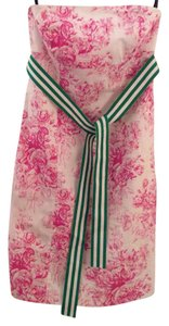Tailor New York short dress Pink Floral Strapless Preppy Toile on Tradesy
