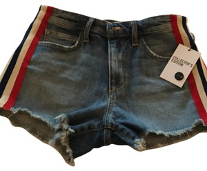 JOE'S Skort denim with whit, red and navy stripes