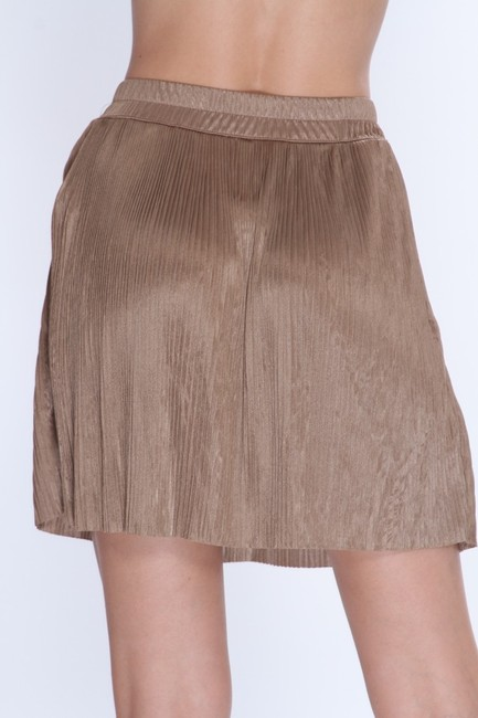 Forever 21 Pleated Mini Skirt Taupe