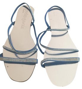 Pedro Garcia platinum/blue Sandals