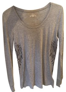 2a7f32cf Juicy Couture Grey Wings Long Sleeve Tee Shirt Size 4 (S) - Tradesy