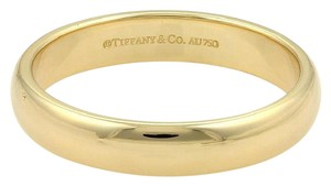 Tiffany & Co. 18k Yellow Gold 4.5mm Plain Dome Wedding Band Ring Size 11.75
