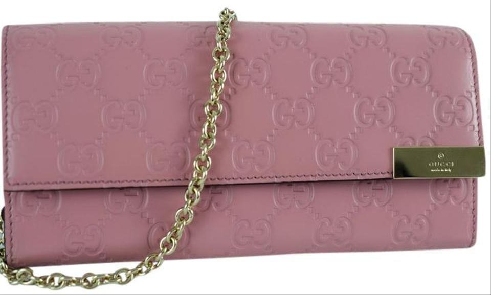164eed171684 Gucci 269541 Gg Bag/Wallet with Chain Pink Leather Clutch - Tradesy