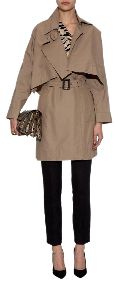 8a6f3a9061 Vivienne Westwood Taupe Windsor Mac with Removable Cape Coat. Size  4 ...