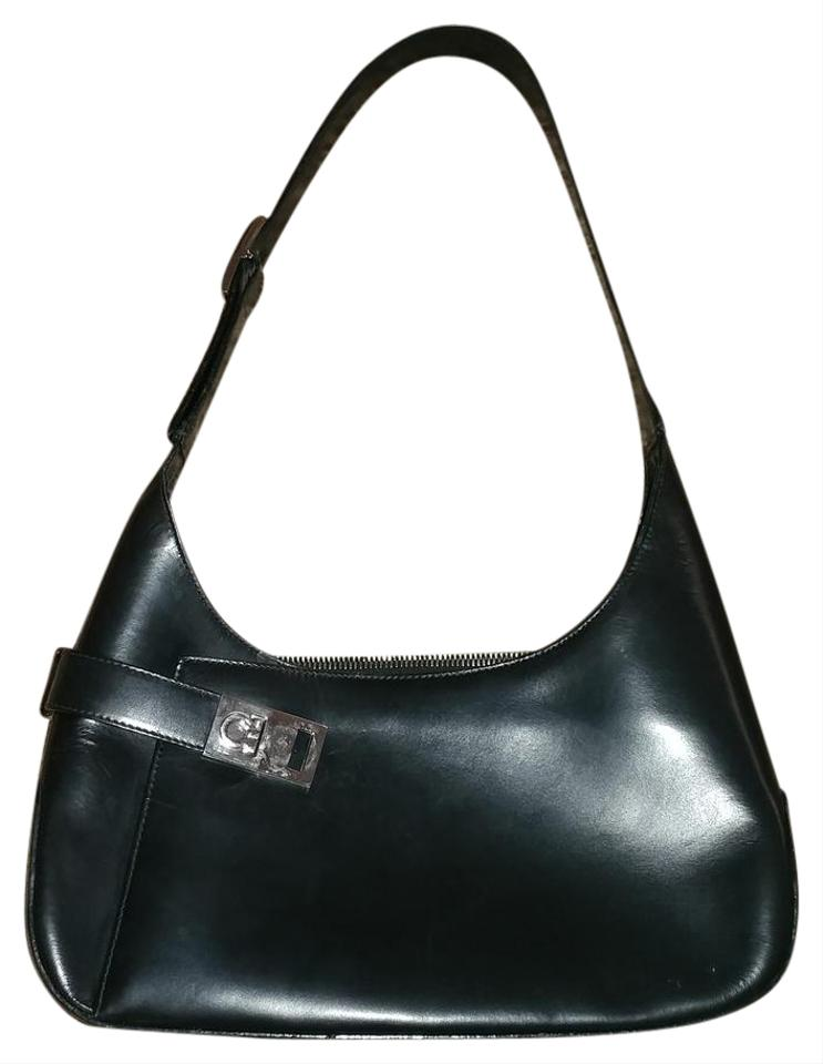 ad6511870f34 Salvatore Ferragamo Small Purse Black Lambskin Leather Shoulder Bag ...