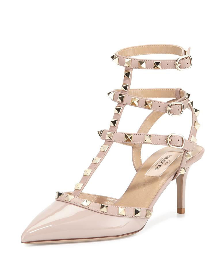 valentino t strap rockstud eu 36 blush pumps on sale 20 off pumps on sale. Black Bedroom Furniture Sets. Home Design Ideas
