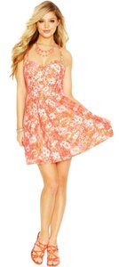 Guess short dress Bright Coral Multi on Tradesy