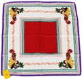 Etro NEW! Etro Milano Italy Silk Scarf Square Red White Purple