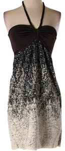 Arden B. short dress White, Black and Brown on Tradesy