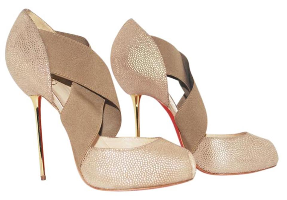 e3a07782405 Christian Louboutin Gold New Big Dorcet 36.5it Leather Platform Pump High  Heel Lady Red Sole Boots Booties