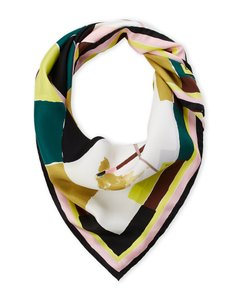 Emilio Pucci NEW Printed Square Silk Scarf