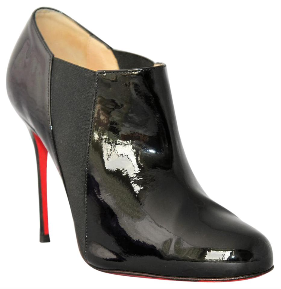 087bfa03ef1 Christian Louboutin Black 37.5 It Patent Leather 100 High Heel Lady Fashion  Red Sole Pump Ankle Boots Booties. Size  US 7.5 ...