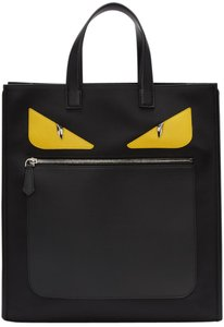 Fendi Leather Studded Tote in Black