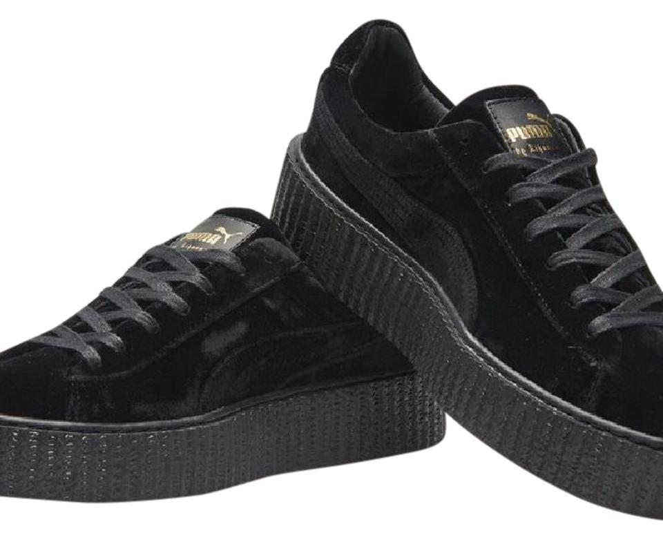 FENTY PUMA by Rihanna Black Velvet Creeper Sneakers Size US 8.5 ... 068155ead