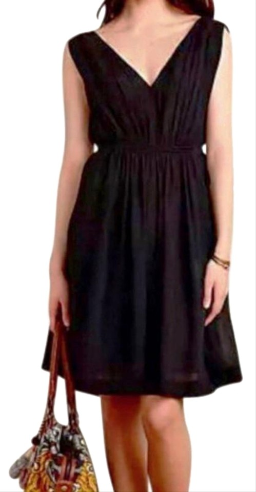 2fd09cc3ea3a Anthropologie Black Draped Fit + Short Casual Dress Size 4 (S) - Tradesy