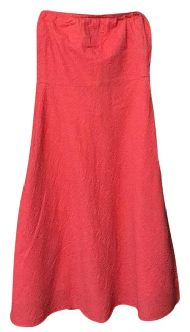 J.Crew Peach/Pink Strapless Mid-length Casual Maxi Dress Size 8 (M) J.Crew Peach/Pink Strapless Mid-length Casual Maxi Dress Size 8 (M) Image 1