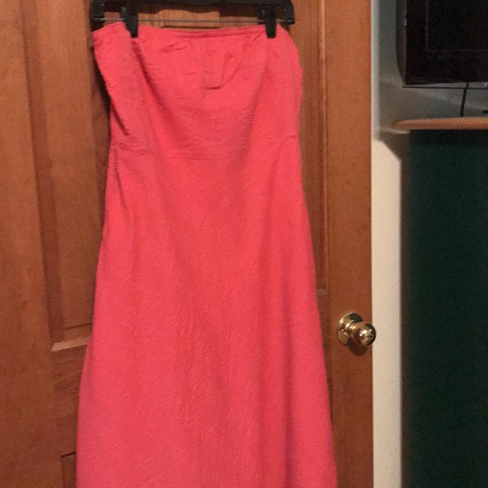 Maxi Strapless Peach Casual J Pink Dress Crew qt0Xx1O