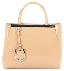 Fendi Leather Nude Tote