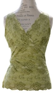 Emma James Tiered Blouse Casual Occasion Liz Clairborne Top Green Lace