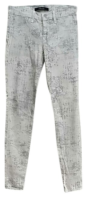 Item - White/Gray Super Pants Size 0 (XS, 25)