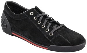 Gucci Womens Leathersuede Sneaker Trainer Black Athletic
