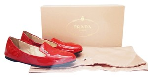Prada Donna Rosso Slip On 5.5 Red Flats