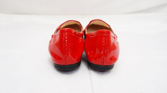 Prada Vernice Calzature Donna Rosso Patent Leather Loafer Slip On 5.5 Italy Red Flats
