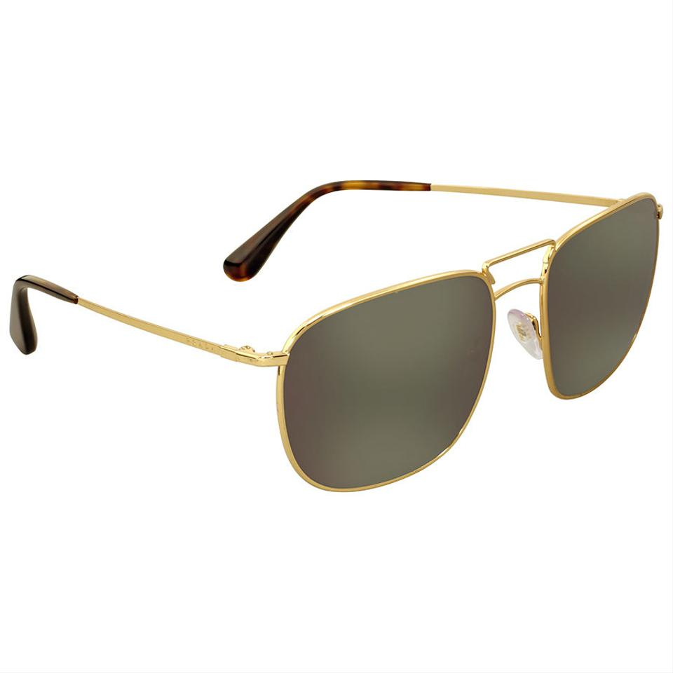 3256e3b9ff Prada Prada Aviator Gold-Tone Dark Grey Mirror Authentic Men s Sunglasses  Image 0 ...