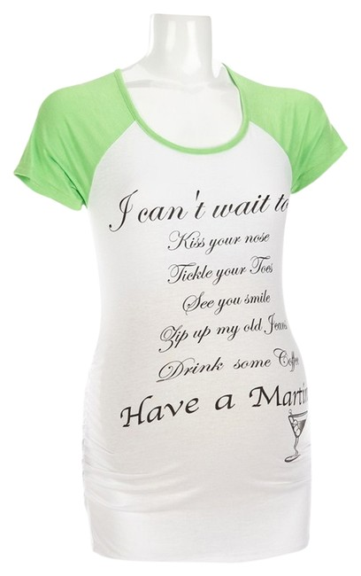Belly by Design Can't Wait Maternity Baseball T-Shirt