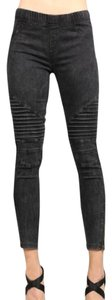 Beulah Moto Zip Op7019 Jeggings-Light Wash