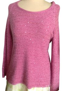 Les Copains New Angora Sequin Silk Sweater