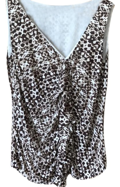 Item - Brown & Cream Tank Top/Cami Size 12 (L)