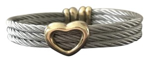 Charriol Charriol Silver Cable with Gold Plated Heart
