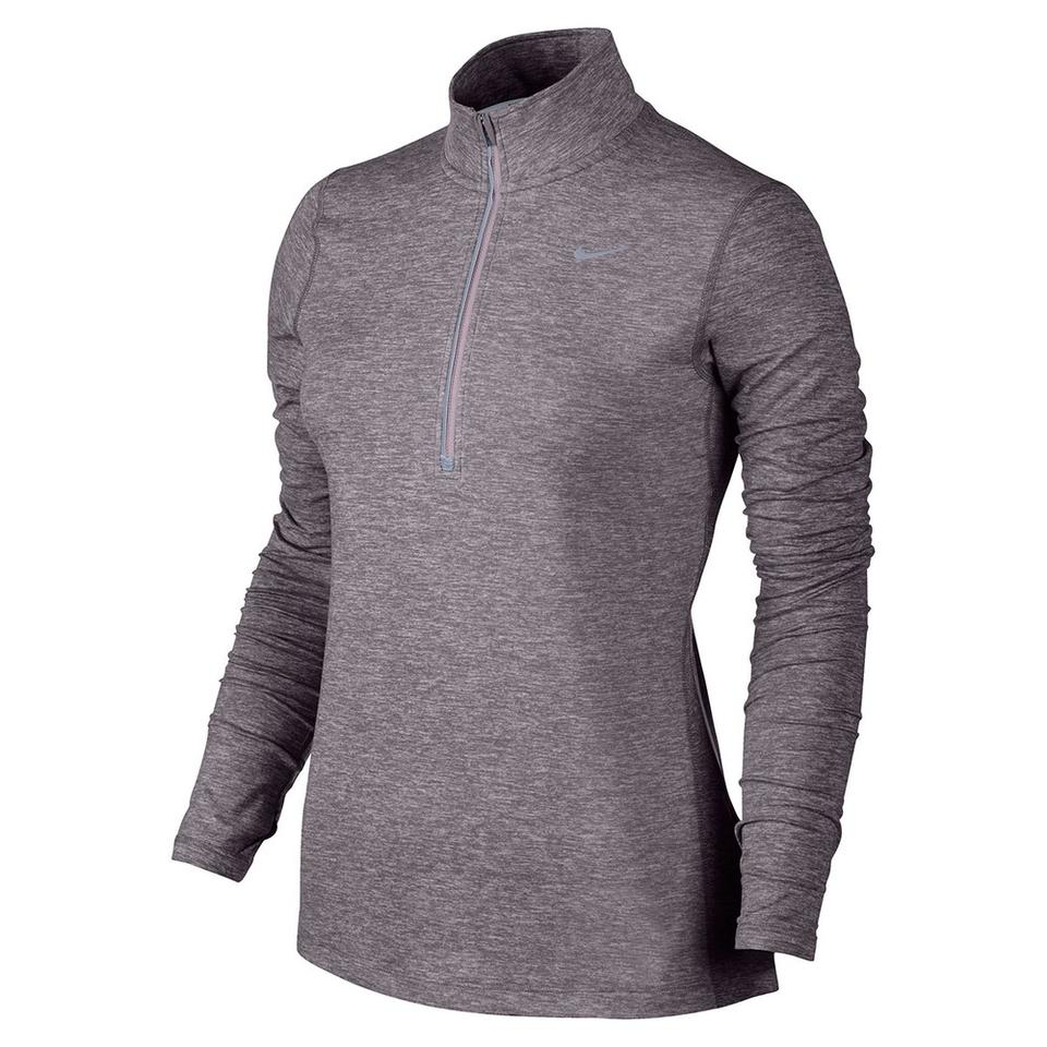 95db79fc Nike Purple Smoke/Heather/Reflective Silver Women's Element Half Zip Large  Activewear Top