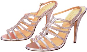 Kate Spade Evening Strappy Glitter Wedding Silver Metallic Formal