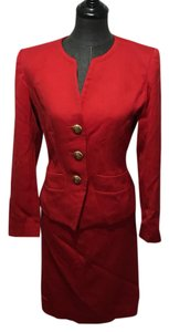 Saint Laurent Red vintage skirt suit
