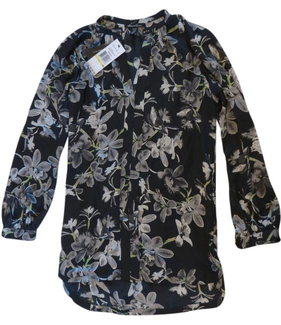 Kenneth Cole Top Black and grey floral print