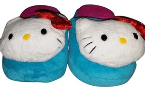 Other Hello Kitty Blue/Pink Slippers - Size M (7-8)