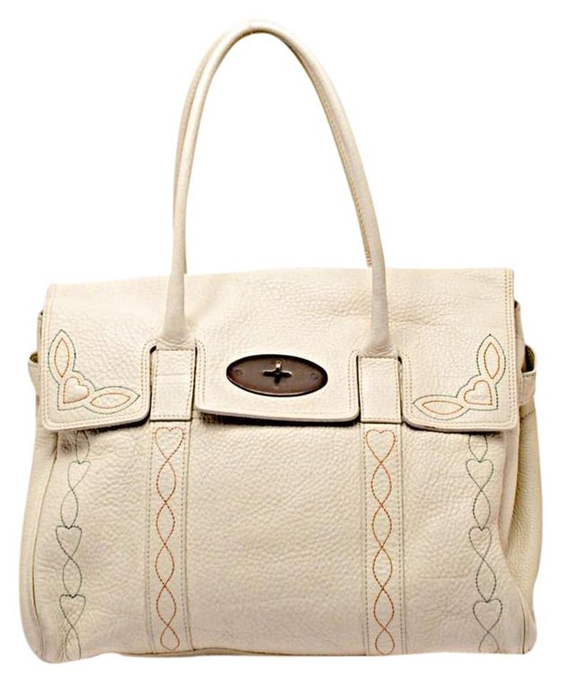 Mulberry Bayswater Tote In with Brass Hardwar Off White Pebble ... 70a18d5957701