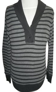 Faded Glory Longsleeve Stripe Black Gray Tunic