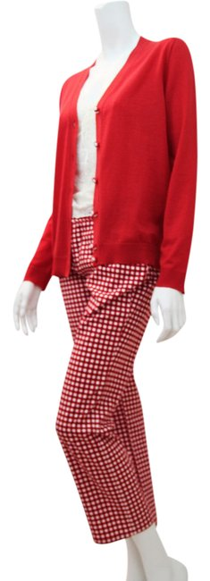 Item - Red and White Dark Rinse Casual Style Pant Fr38 Relaxed Fit Jeans Size 31 (6, M)