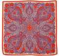 Etro NEW! 100% Silk Scarf Square Purple Red Paisley Multicolor
