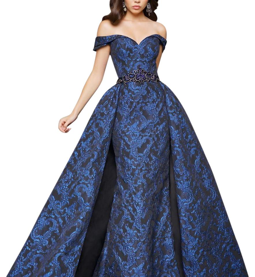 Mac Duggal Couture Midnight Blue/Black 80675 Long Formal Dress Size ...