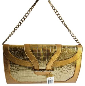 Elaine Turner Gold Clutch