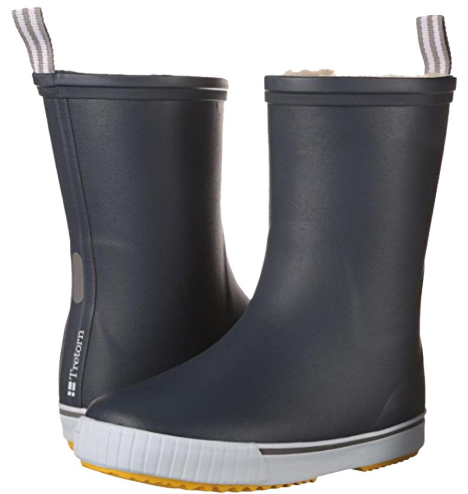 e4aa88c2e4a Tretorn Rainboot Rain Rainboots Navy Blue with Yellow Sole Boots Image 0 ...