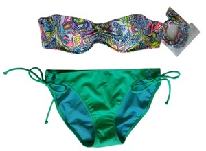 Victoria's Secret Victoria's Secret 32A/S Multi color Paisley Bikini Set New FREE SHIPPI