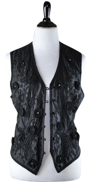 Preload https://item2.tradesy.com/images/eavis-and-brown-embroidered-silk-black-vest-t-shirt-2150711-0-0.jpg?width=400&height=650